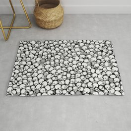Gothic Crowd B&W Rug