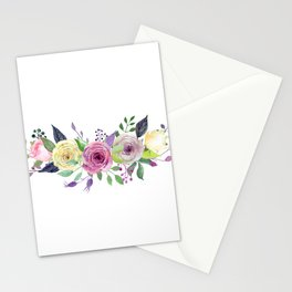 Posy ROSE AND RED Painted - bouquet, nosegay, flower Stationery Cards