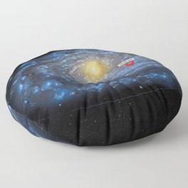 You are here: Milky Way map, Earth Floor Pillow