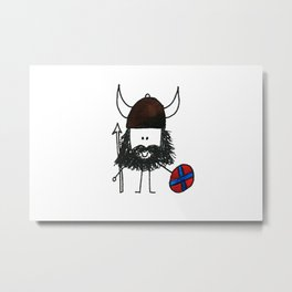 Norsk Viking Metal Print