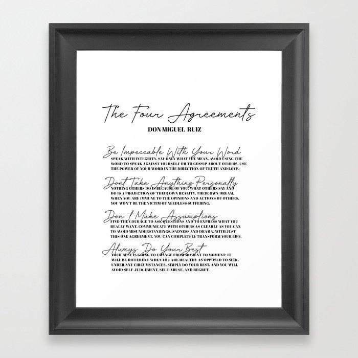 the four agreements Gerahmter Kunstdruck