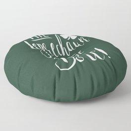 The Leprechaun Made Me Do It! Floor Pillow