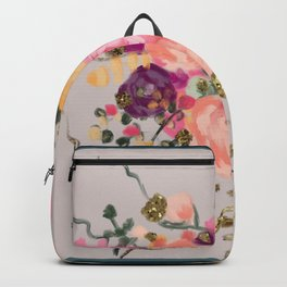 Floral bouquet - elegant - bright colours-peach-orange Backpack