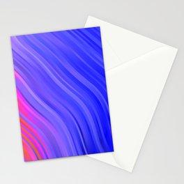 stripes wave pattern 1 mv Stationery Cards