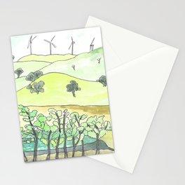 Sketch_Wind farm, Carcoar, Australia Stationery Cards