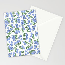 Dutch Blue Tulips Stationery Cards