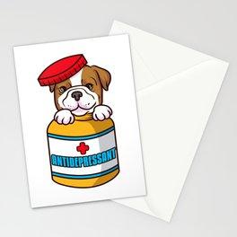 Adorable Dog Antidepressant Pets Fix Depression Stationery Cards