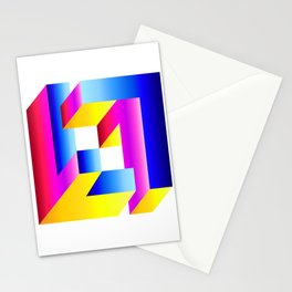 impossible square gradient  Stationery Cards