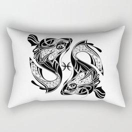 Pisces Zodiac Symbol Rectangular Pillow