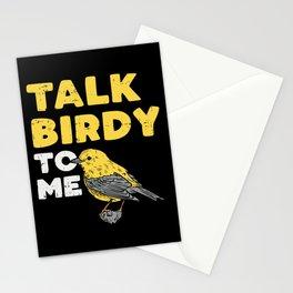 Funny Birdwatching Talk Birdy To Me design I Birding Gift Stationery Cards