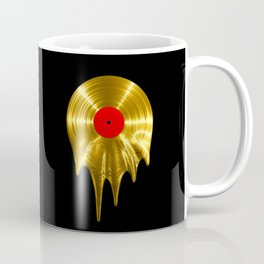 Melting vinyl GOLD / 3D render of gold vinyl record melting Coffee Mug