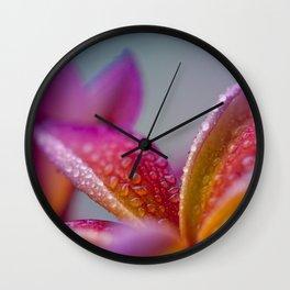 Pua Melia ke Aloha Hawaii Wall Clock