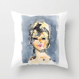 Brigitte Bardot Throw Pillow