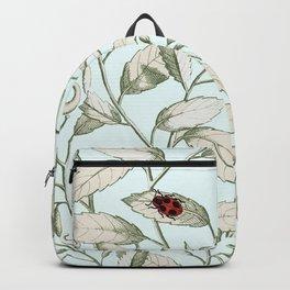 Noli me tangere- ladybird on leaf Backpack