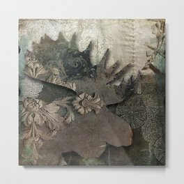 Gothic Forest Moose Metal Print