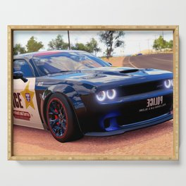 Highway Police Patrol Challenger Demon color photograph / photography / poster Serving Tray