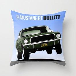 Ford Mustang Fastback GT 1968 from Bullitt Throw Pillow