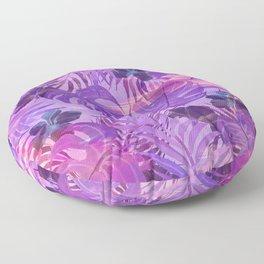 Lavender pink tropical floral watercolor brushstrokes Floor Pillow