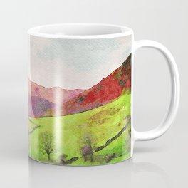 Green Grasmere Hillside, Ambleside, Lake District UK Coffee Mug