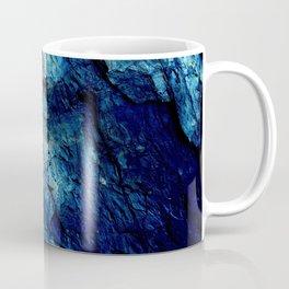 Mineral Texture Dark Teal Ocean Blue Coffee Mug