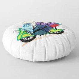 The Walrus Biker Floor Pillow