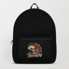Punk Rock Is My Therapy Grunge Look Backpack