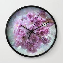 Painterly blossom Wall Clock