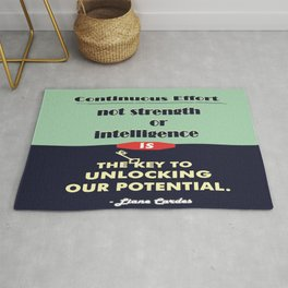 Intelligence is the key to unlocking our potential Inspirational Quote Rug