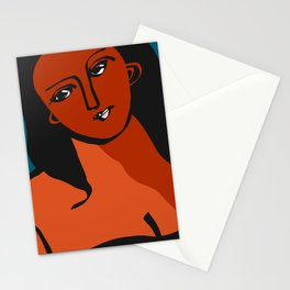 Red odalisque Stationery Cards