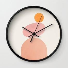 Abstraction_NEW_SUN_SHAPE_BALANCE_POP_ART_030AA Wall Clock