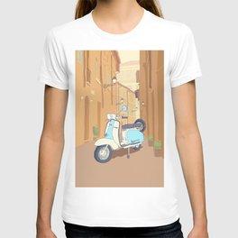 Vespa parked on Italian Street T-shirt