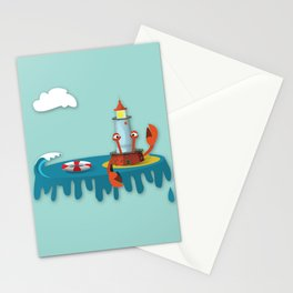 Lighthouse Crab Stationery Cards