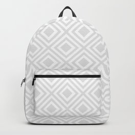 Simply White And Gray Backpack