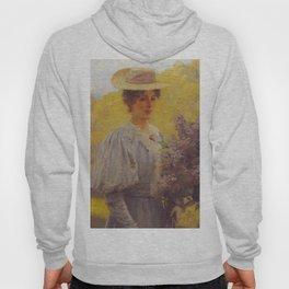 Hans Gude Painting -  Ung Dame Med Syriner 1897  | Reproduction | Norwegian Art Hoody