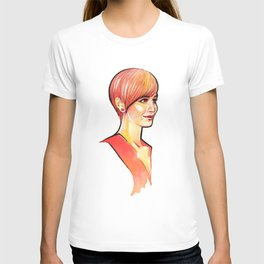 Lady in Red T-shirt