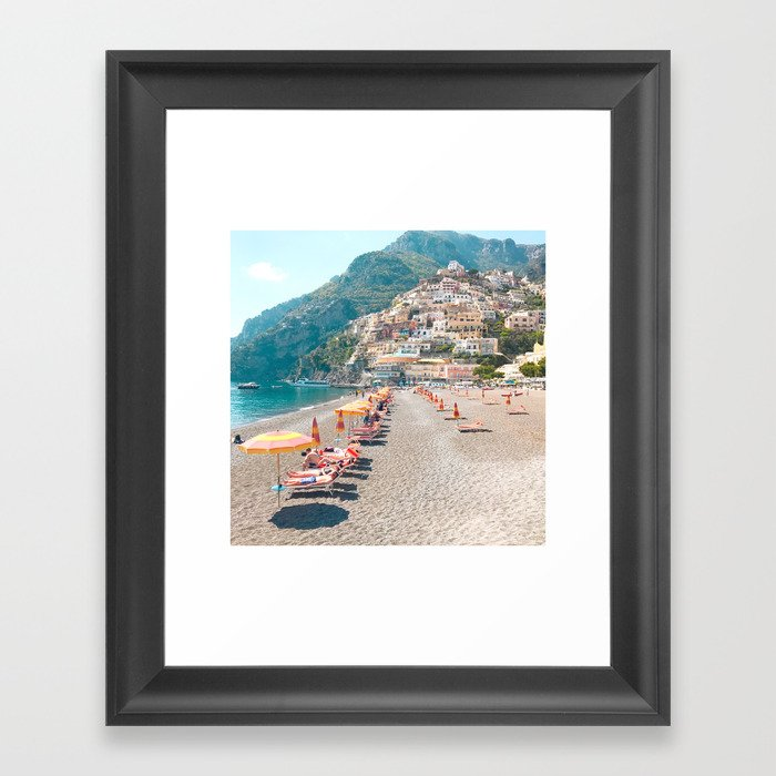 perfect beach day - Positano, Italy Gerahmter Kunstdruck