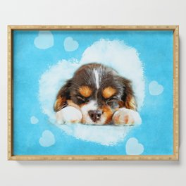 Cavalier King Charles Spaniel Puppy Serving Tray