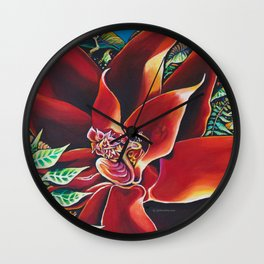 The Red Flower: Julie Northey Wall Clock
