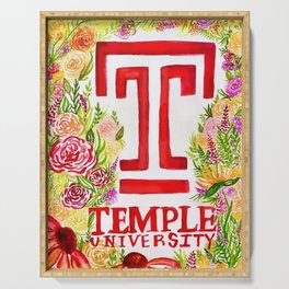 Temple University - Wildflowers Serving Tray