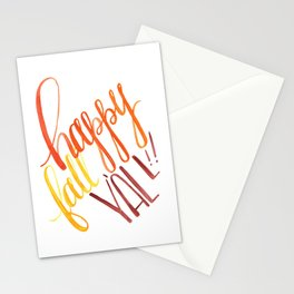 Happy Fall Y'all!! Stationery Cards