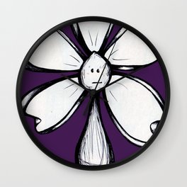 """Blank Face"" Flowerkid Wall Clock"