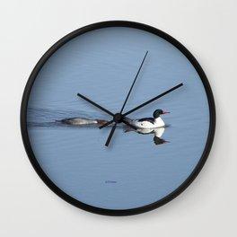 Mergansers on the Kenai Wall Clock