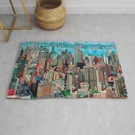 Stressless - New York City Skyline - Empire State Building Photograph on Canvas by Serge Mendjisky Rug