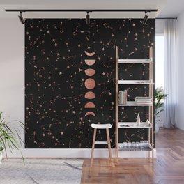 Moon and his Stars Wall Mural