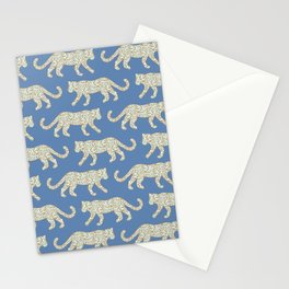 Kitty Parade - Mint on Denim Blue Stationery Cards