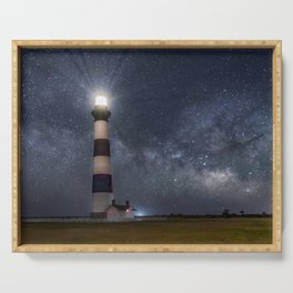 Bodie Island Lighthouse with Milky Way Core Serving Tray