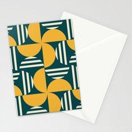Half Moon Crescent Mid Century Pattern Stationery Cards