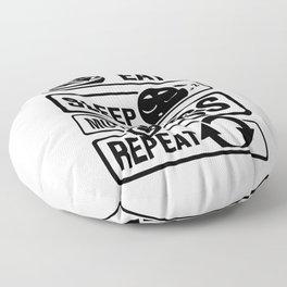 Eat Sleep Motocross Repeat - Motorcycle Motorsport Floor Pillow