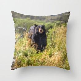Running Bear Throw Pillow