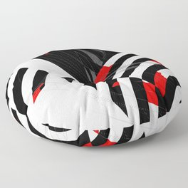 black and white meets red Version 8 Floor Pillow